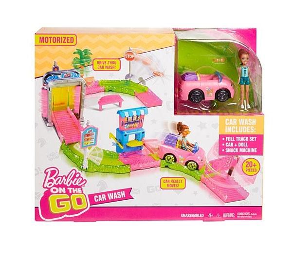Barbie On The Go Waschanlage Set