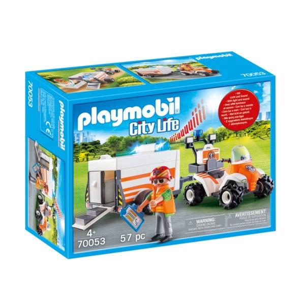 Playmobil 70053 City Life Quad mit Rettungsanhänger