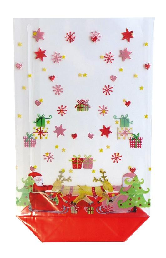 Geschenk Bodenbeutel Weihnachten Santa 14,5 x 23,5 cm