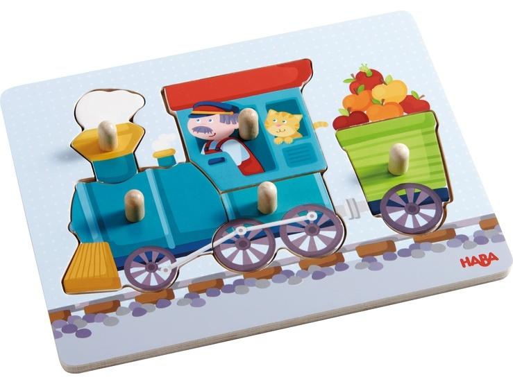 Haba 302537 Greifpuzzle Eisenbahn