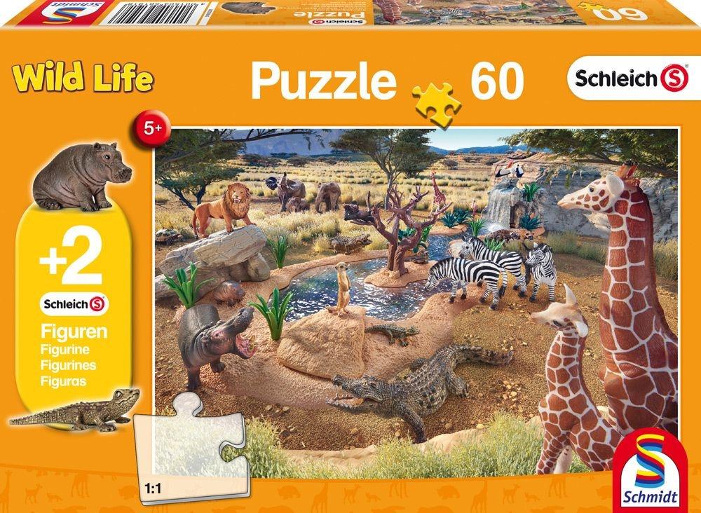 Scjmidt Spiele Puzzle Schleich An der Waserstelle 60 Teile