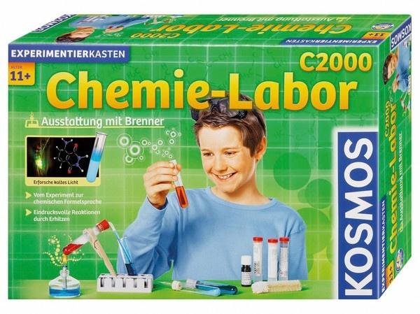 Chemielabor C 2000 Ausstattung mit Brenner Experiment