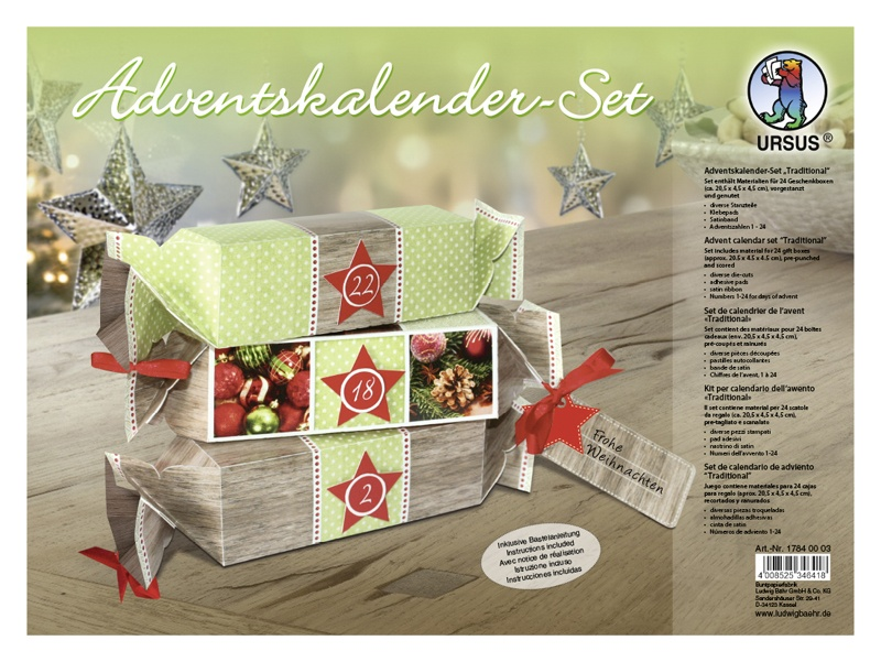 Adventskalender Bastelset Traditional