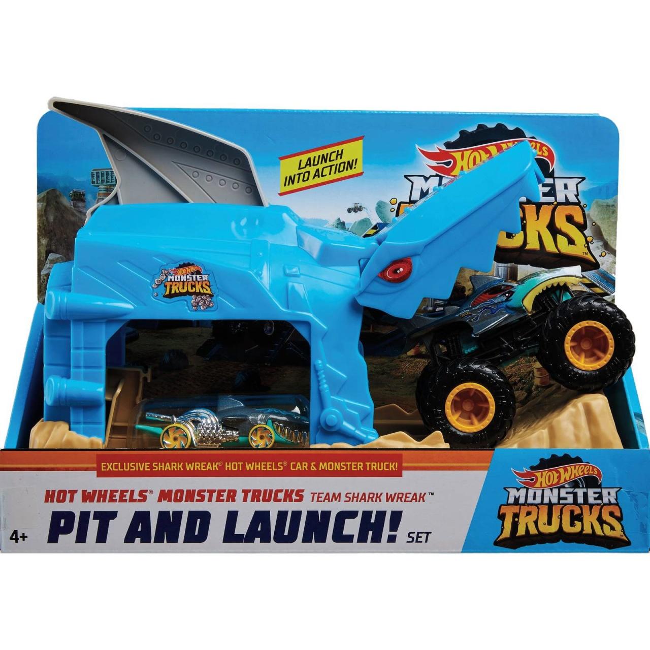 Hot Wheels Monster Trucks Startrampe Shark Wreak