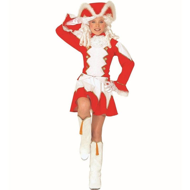Kostüm Funkenmariechen rot 128