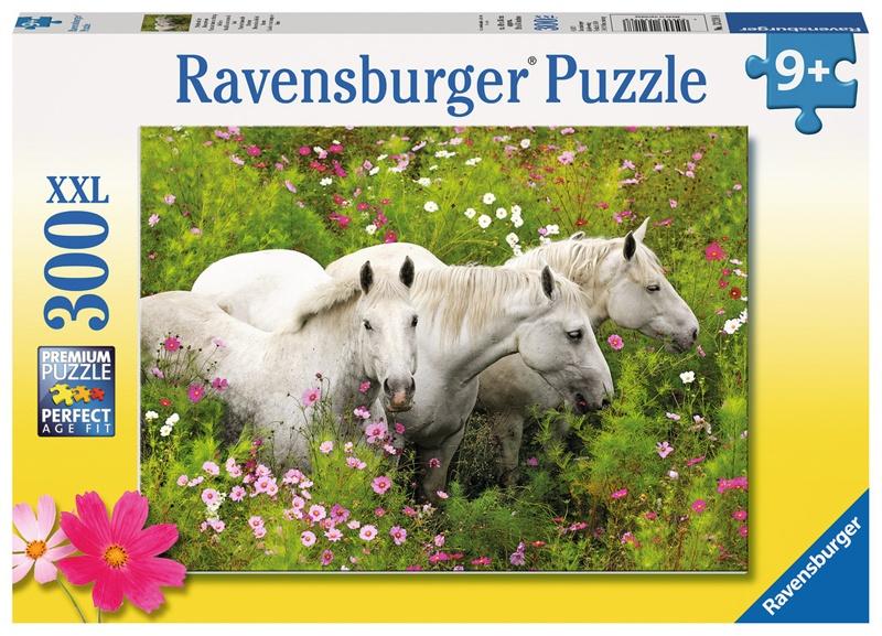 Ravensburger Puzzle Pferde auf der Blumenwiese 300 XXL