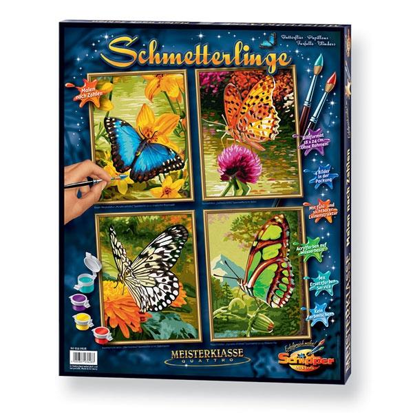 Schipper Malen nach Zahlen Quattro Schmetterlinge
