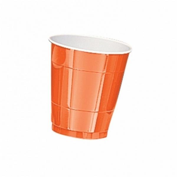 Partybecher Kunststoff 10 Stück  orange