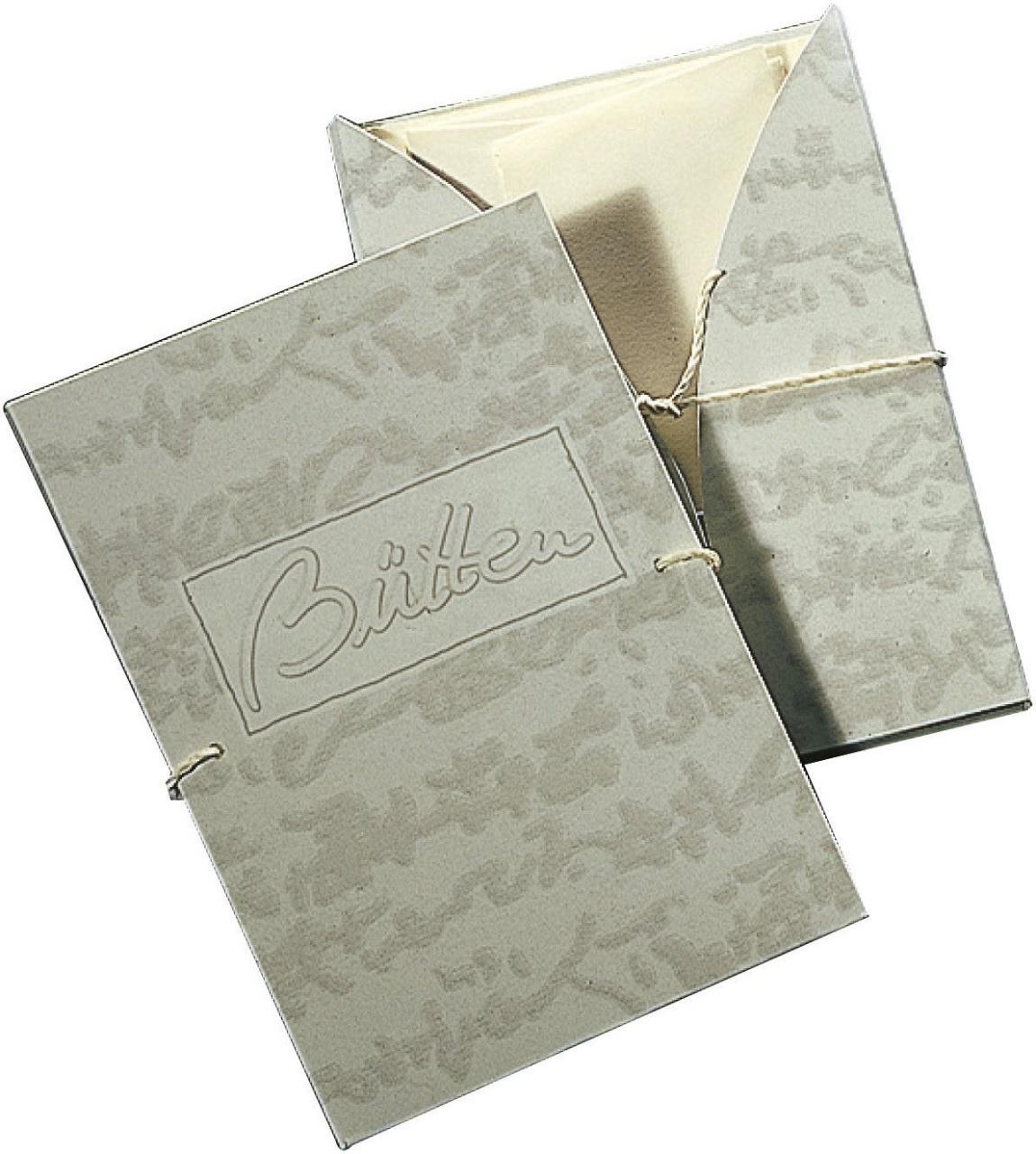 Briefpapier Briefmappe Bütten 6/6 A4/C6 chamois