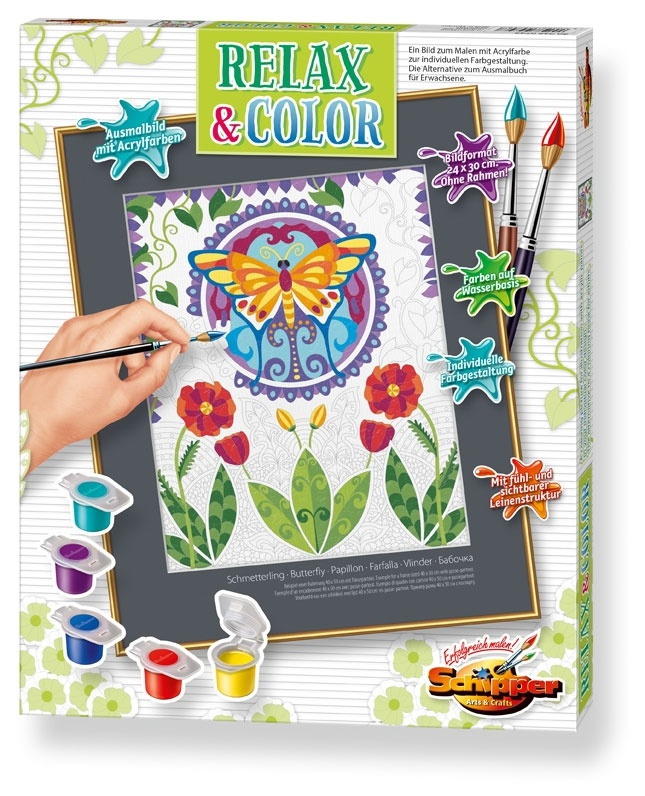 Schipper Malen nach Zahlen Schmetterling Relax & Color