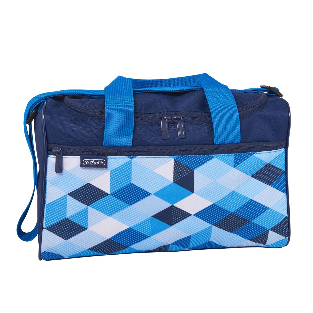 Herlitz Schulranzen-Zubehör Sporttasche Blue Cubes