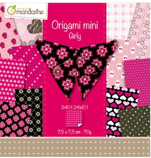 Avenue Mandarine Origami Papier Girly 240 Blatt 7,5 x 7,5