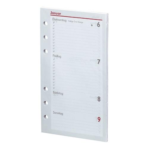 2020 Kalender Ersatzeinlage kompakt A6 1 Woche/2 Seiten