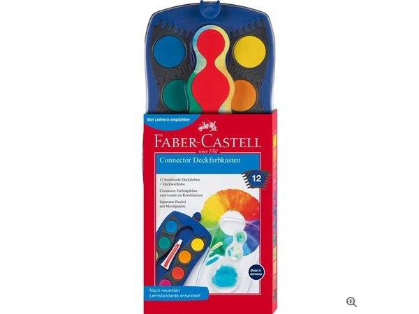 Faber Castell Deckfarbkasten Connector 12er blau