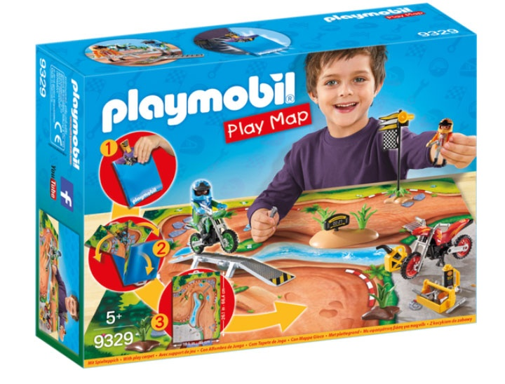 Playmobil 9329 Action Play Map Motocross