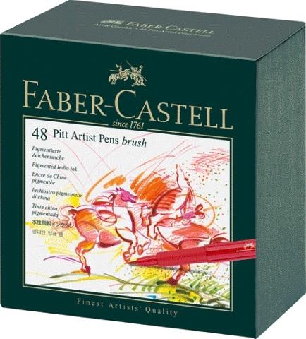 Faber Castell Tuschestift PITT ARTIST PEN 48er Atelierbox