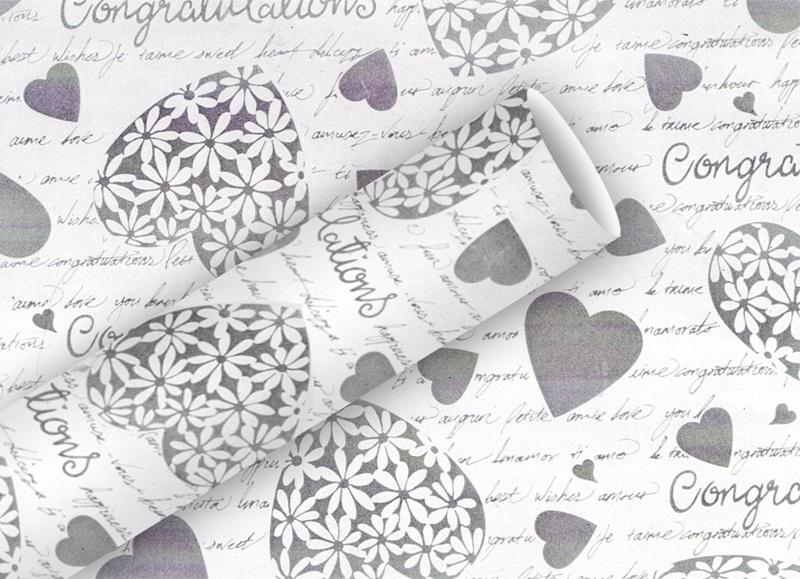 Geschenkpapier Elegant Heart