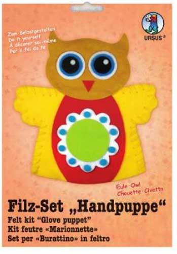 Filz-Bastel-Set Handpuppe Eule