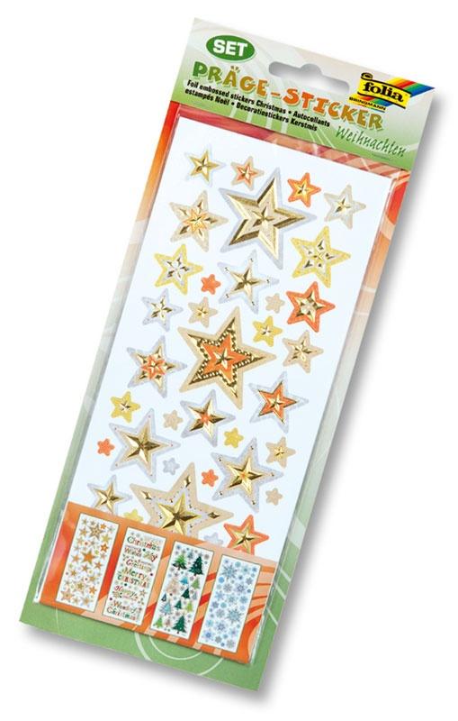 Folia Präge-Sticker Weihnachten