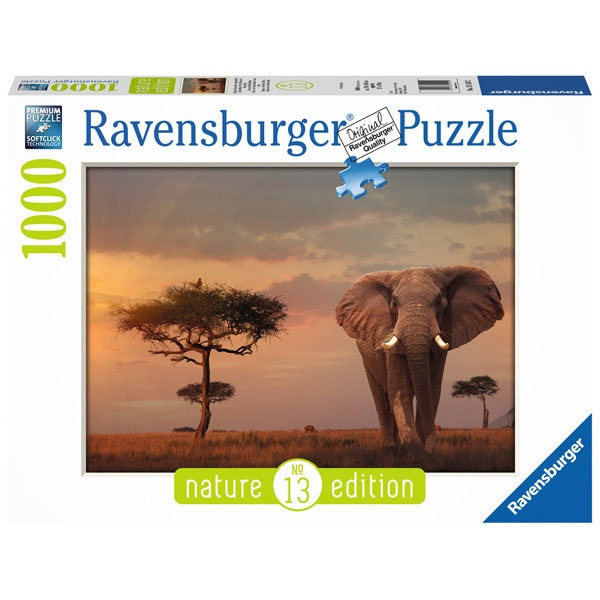 Puzzle Elefant in Masai Mara National Park 1000 Teile