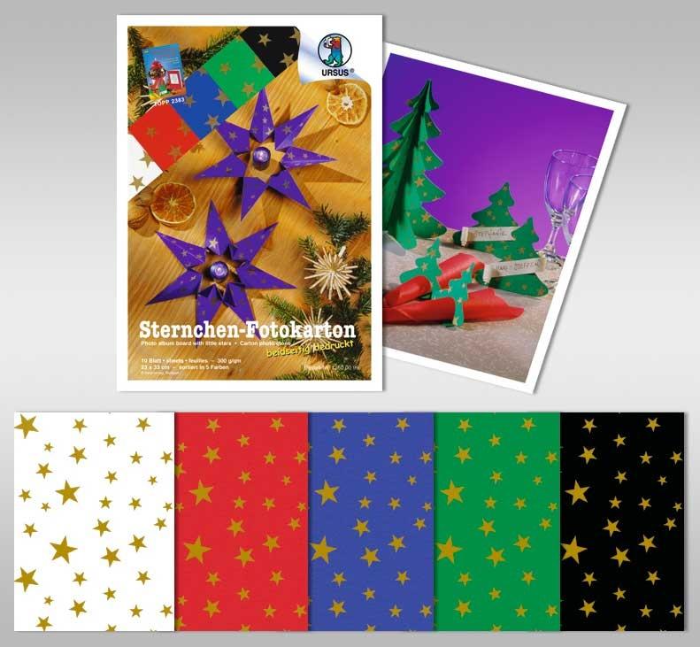 Bastelmappe Sternchen Fotokarton