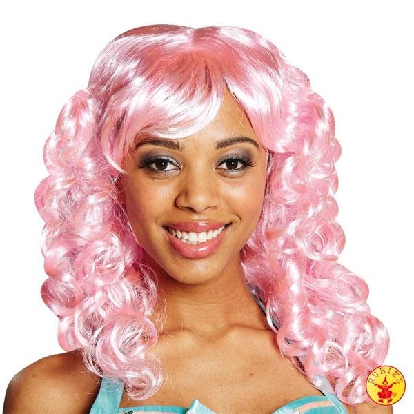 Kostüm-Zubehör Perücke Candy Cotton rosa
