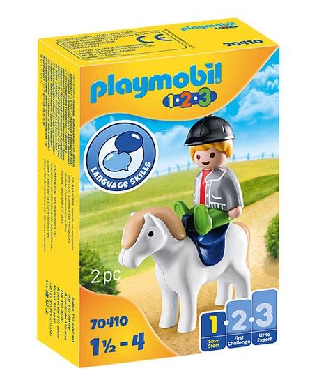Playmobil 70410 1.2.3 Junge mit Pony