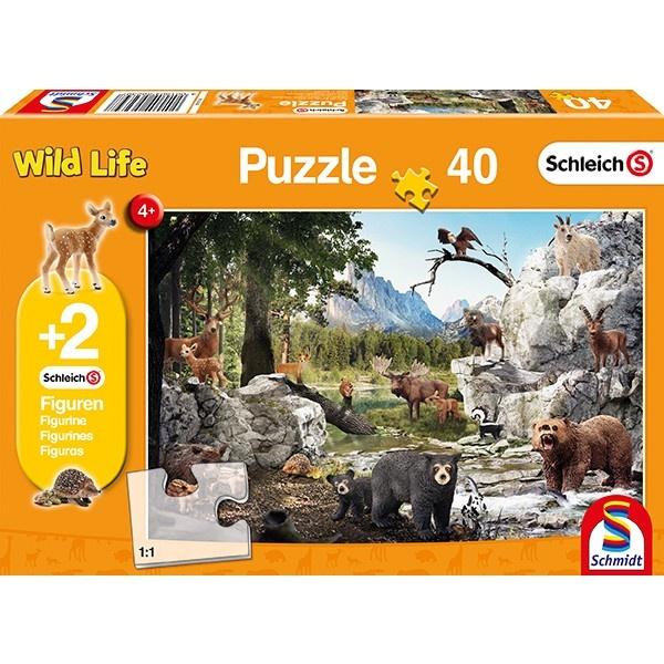 Schmidt Spiele Puzzle Tiere des Waldes 40 Teile