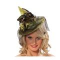Kostüm-Zubehör Hexenhut mit Federn grün