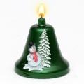 Weihnachtskerze Glockenkerze Schneemann