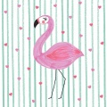 Servietten Flamingo in Love