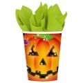 Halloween Partybecher Kürbis 8 Stück