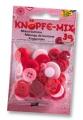 Folia Bastelmaterial Knöpfe-Mix Ton in Ton rot