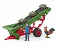 Schleich Farm World Heuförderband mit Bauer 42377