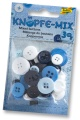 Folia Bastelmaterial Knöpfe-Mix Ton in Ton blau