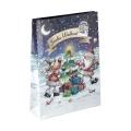 Papiertüte Comic Santa und Rentier 25x8,5x34,5cm