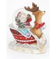 Schneekugel Rentier mit Weihnachtsmann