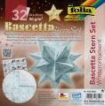 Folia Bastelset Bascettastern Winterornament weiß/eisblau