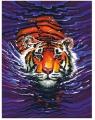 Mammut Malen nach Zahlen Schwimmender Tiger