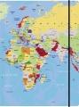 Sammelmappe A3 Weltkarte