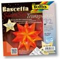 Folia Bastelset Bascettastern orange 15 x 15