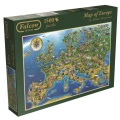 Jumbo Spiele Puzzle Falcon de luxe Map of Europe 1500 Teile