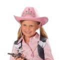 Kostüm-Zubehör Cowboyhut Strassdiadem, rosa