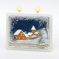 Weihnachtskerze Winterdorf