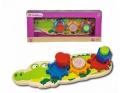 Formpuzzle Krokodil aus Holz von Eichhorn 5406