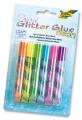 Folia Spiral Glitter-Glue Klebestifte neon