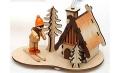 Räuchermännchen Skifahrer 2 14 cm