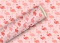 Geschenkpapier Flamingo rosa