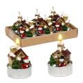 Teelichte Weihnachtshaus 6 Stück