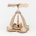 Weihnachtspyramide Rehe und Futterkrippe 24 cm